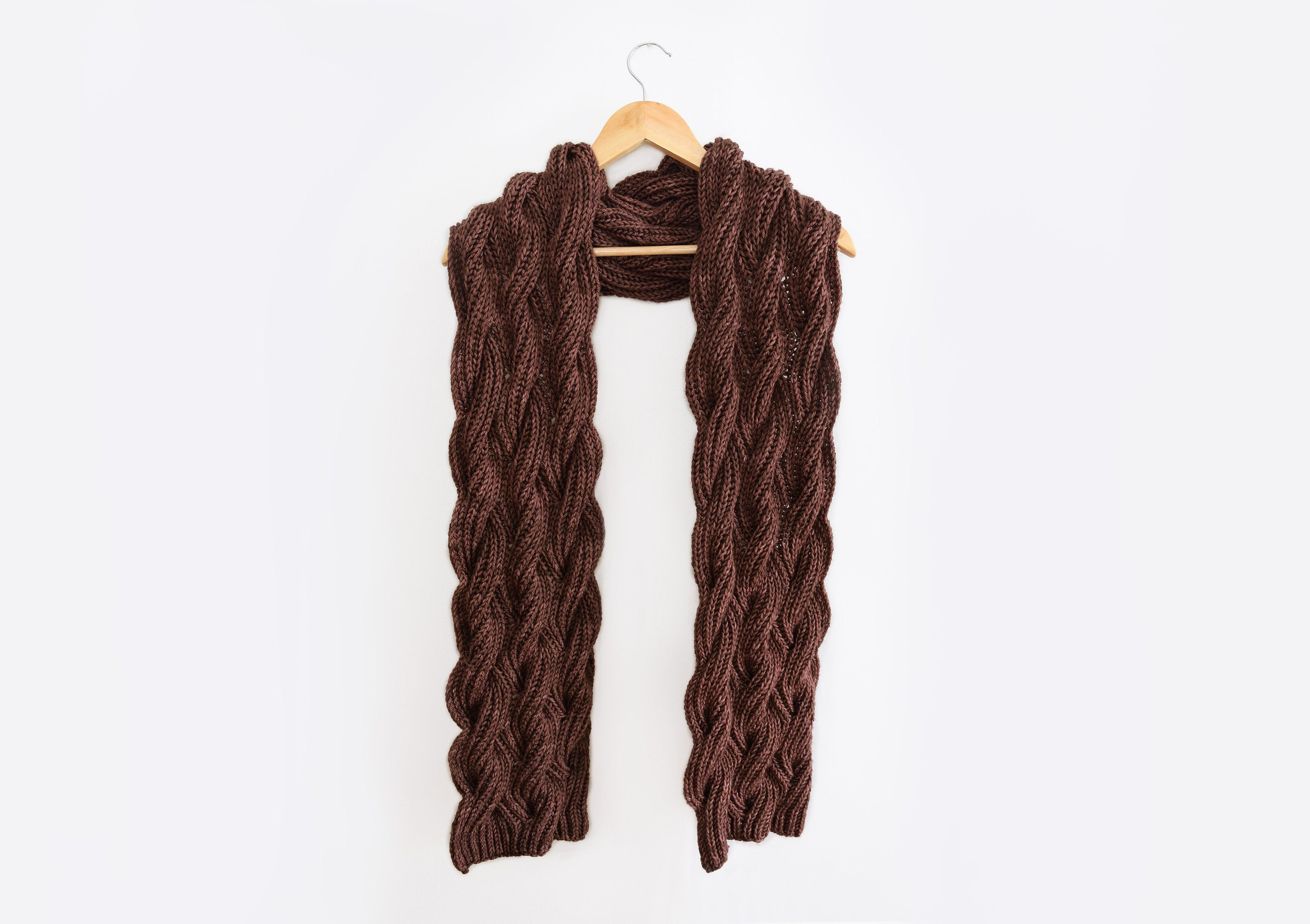 Cable Knitted Scarf Pattern Knitting Patterns Cabled Scarf Pattern Knit Scarf Pattern Cable Knit Rosewood Scarf Pattern Knitting Pattern Diy