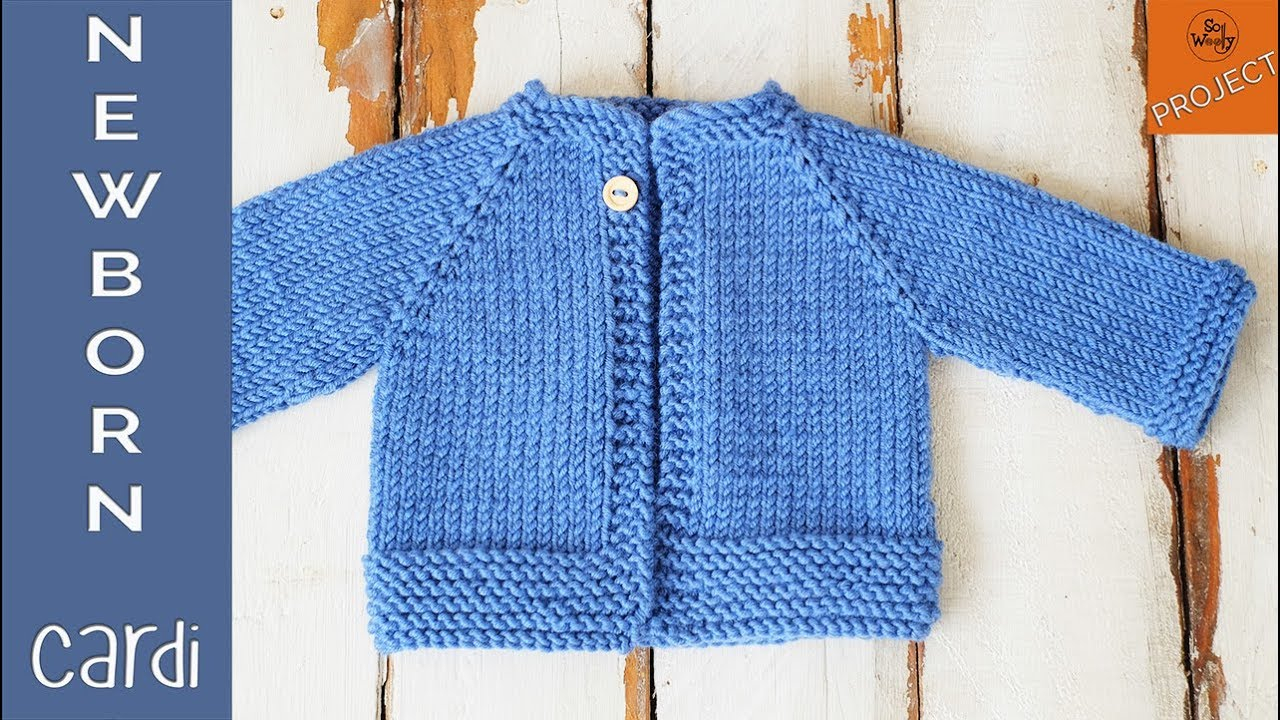 Cardigan Sweater Knitting Pattern How To Knit A Newborn Cardigan For Beginners Part 1