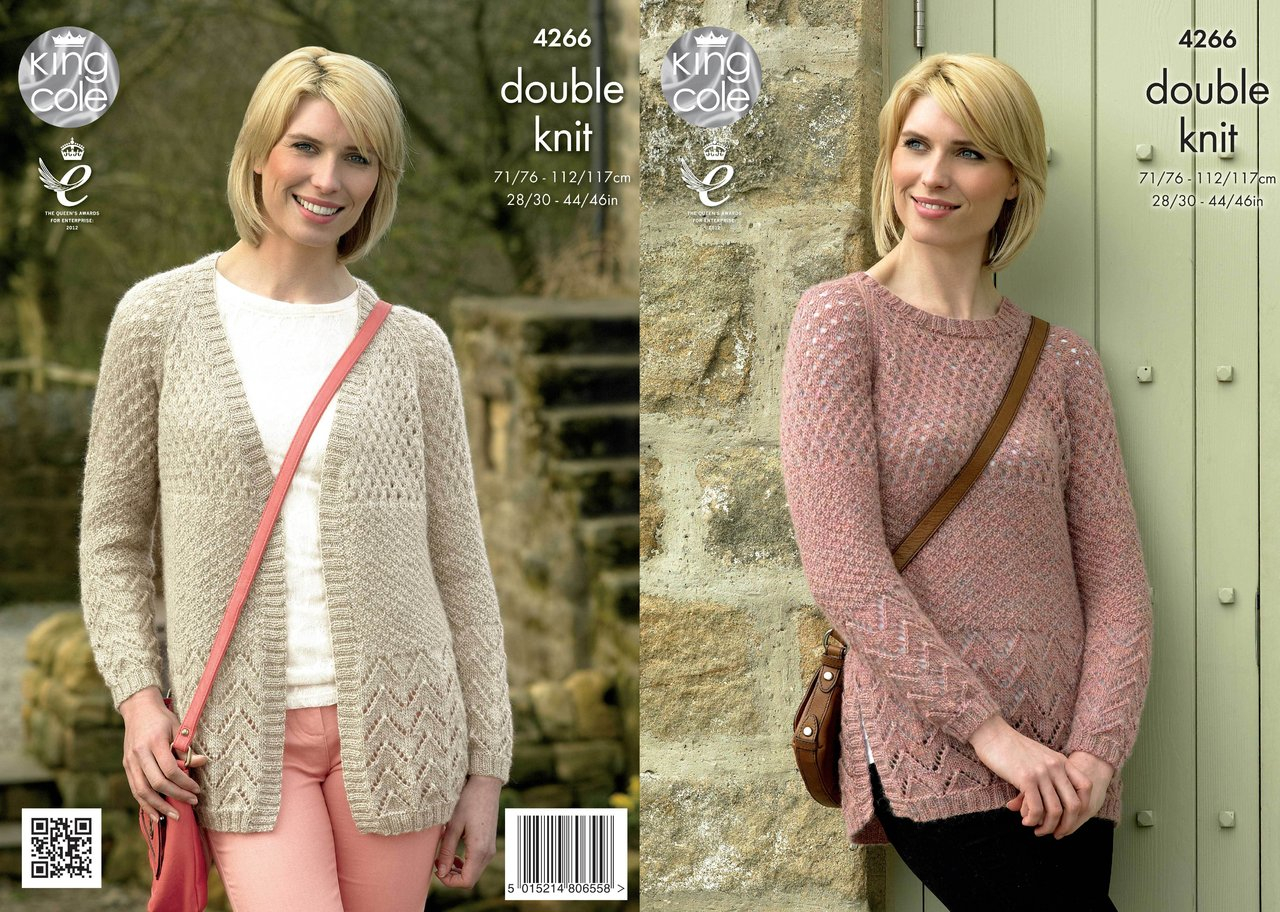 Cardigan Sweater Knitting Pattern King Cole 4266 Knitting Pattern Cardigan And Sweater In Panache Dk