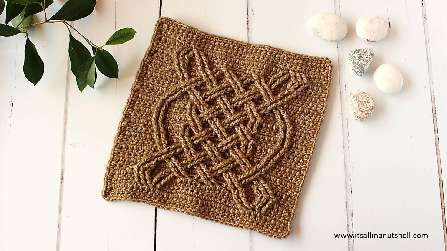 Celtic Afghan Knit Pattern Celtic Tiles Square Video Tutorial Its All In A Nutshell Crochet