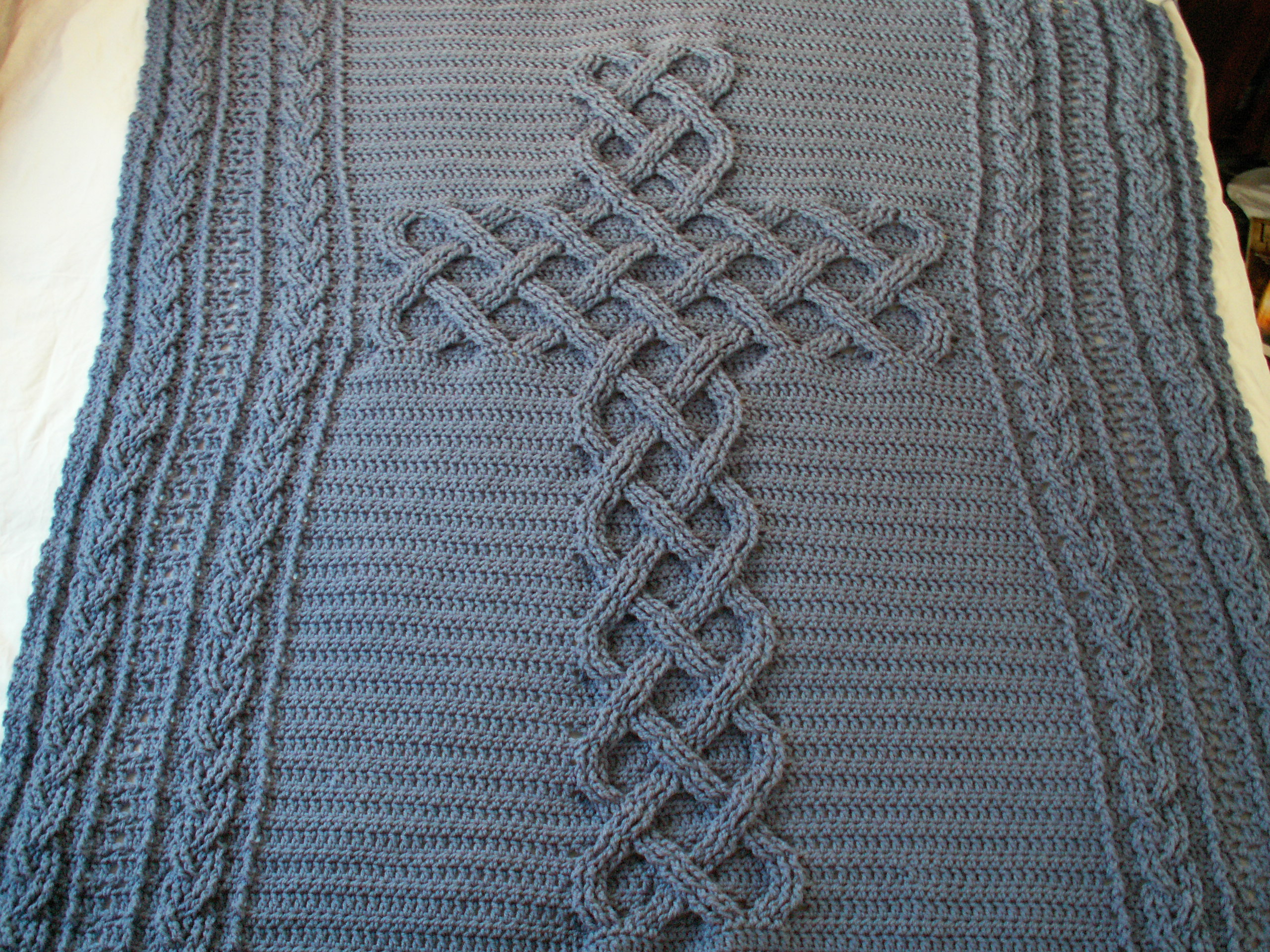 Celtic Afghan Knit Pattern Chunky Celtic Cross Cable Afghan Throw Blanket Pattern