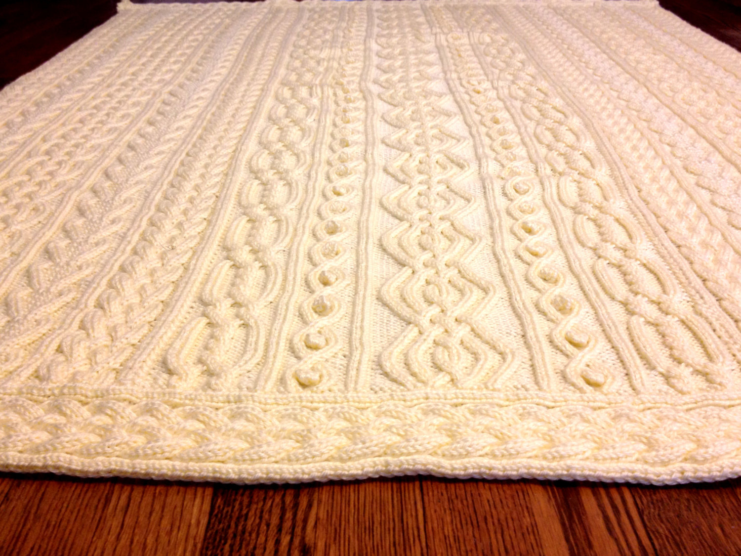 Celtic Afghan Knit Pattern Knitting Pattern Twisty Celtic Aran Afghan Fisherman Cables