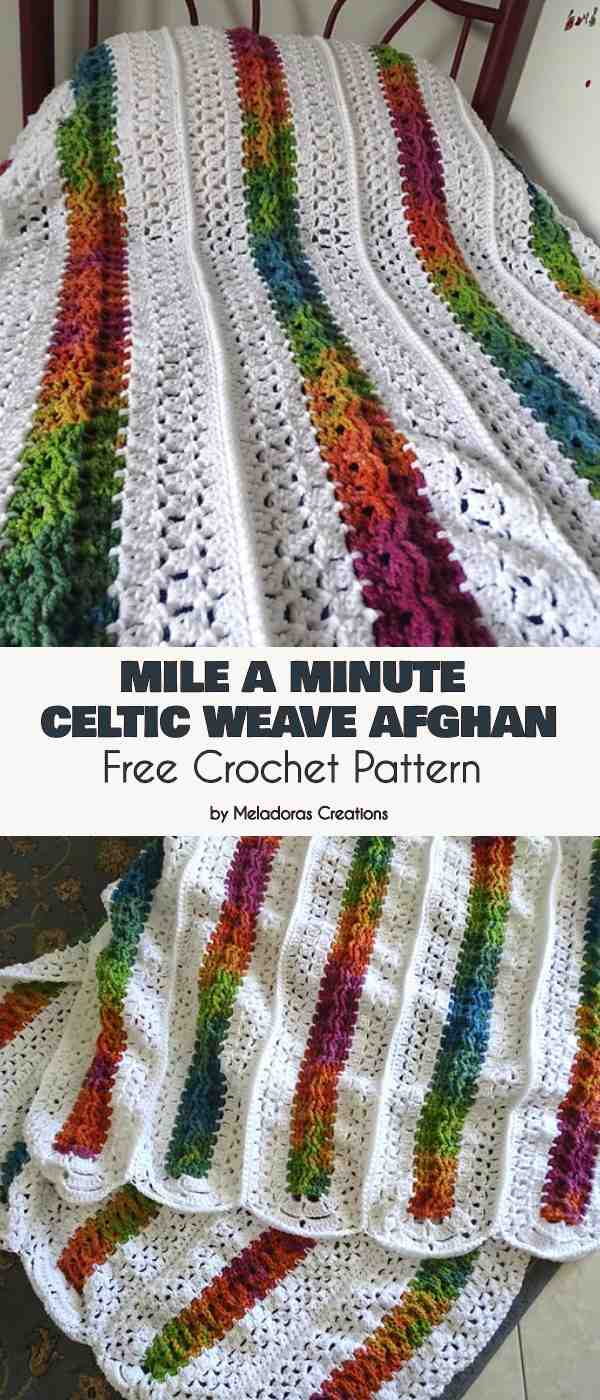 Celtic Afghan Knit Pattern Mile A Minute Celtic Weave Afghan Free Crochet Pattern Your Crochet