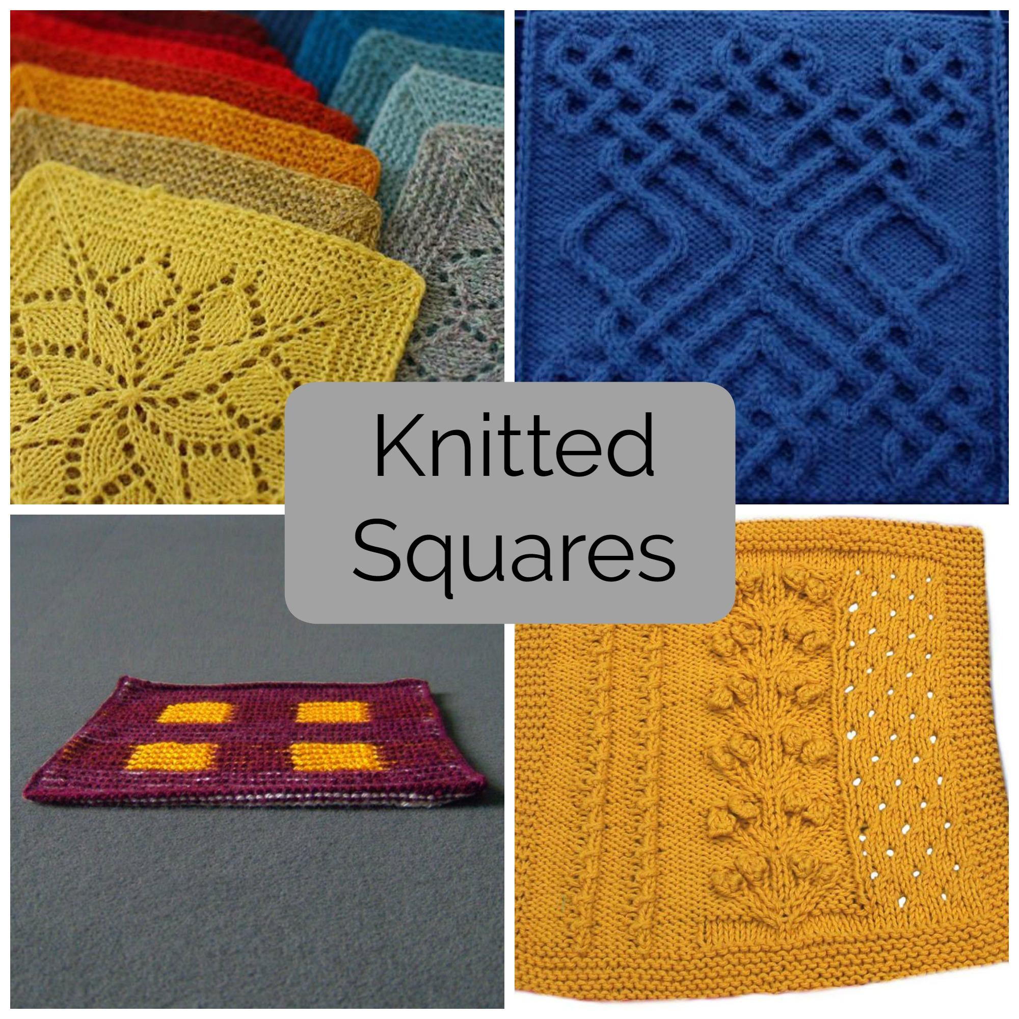 Celtic Afghan Knit Pattern Mix And Match These Knitted Squares For Any Project