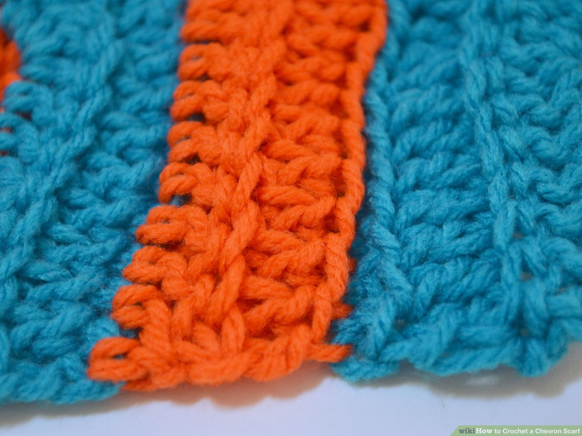 Chevron Infinity Scarf Knitting Pattern How To Crochet A Chevron Scarf With Pictures Wikihow