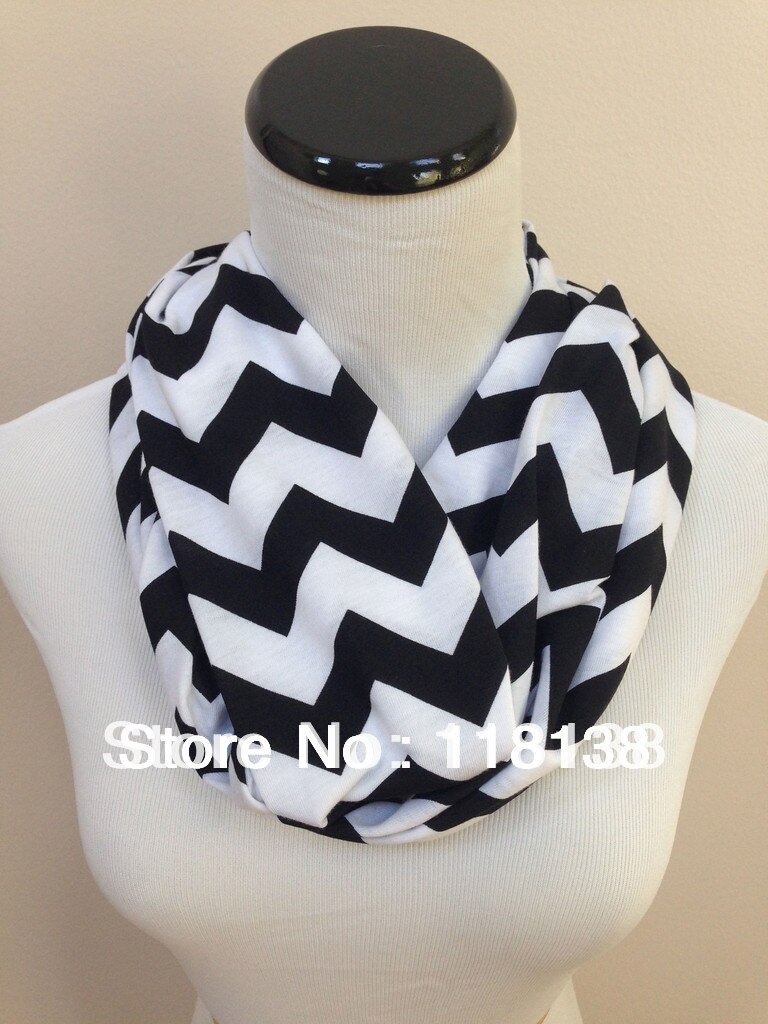 Chevron Infinity Scarf Knitting Pattern Jersey Knit Chevron Infinity Scarf Loop Circle Cowl Ladies Fashion Accessories Soft Womens Gift Double Layers Free Shipping