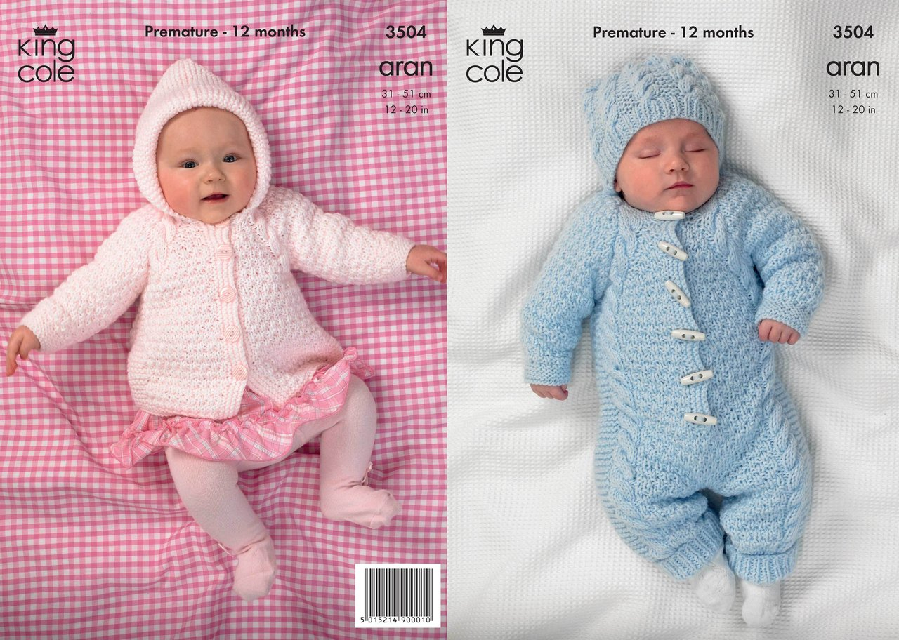 Childrens Aran Knitting Patterns King Cole 3504 Knitting Pattern All In One In King Cole Comfort Aran