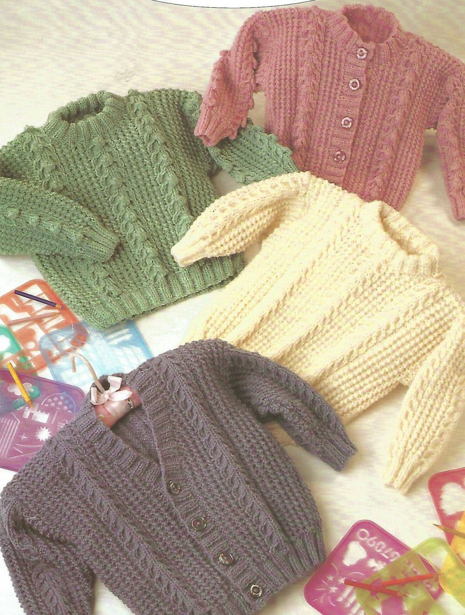 Childrens Aran Knitting Patterns Knitting Pattern Babies Children Aran Fisherman Ply Designs Ba