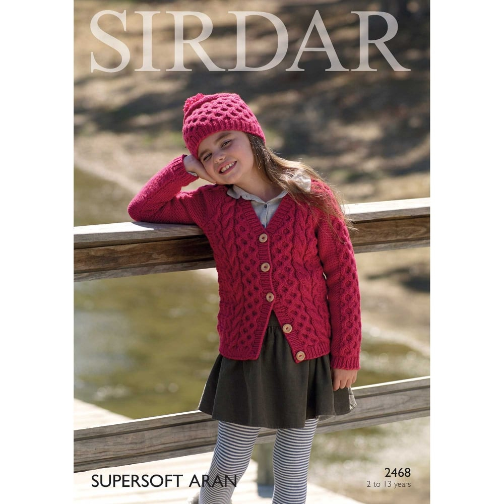 Childrens Aran Knitting Patterns Supersoft Aran Knitting Pattern 2468