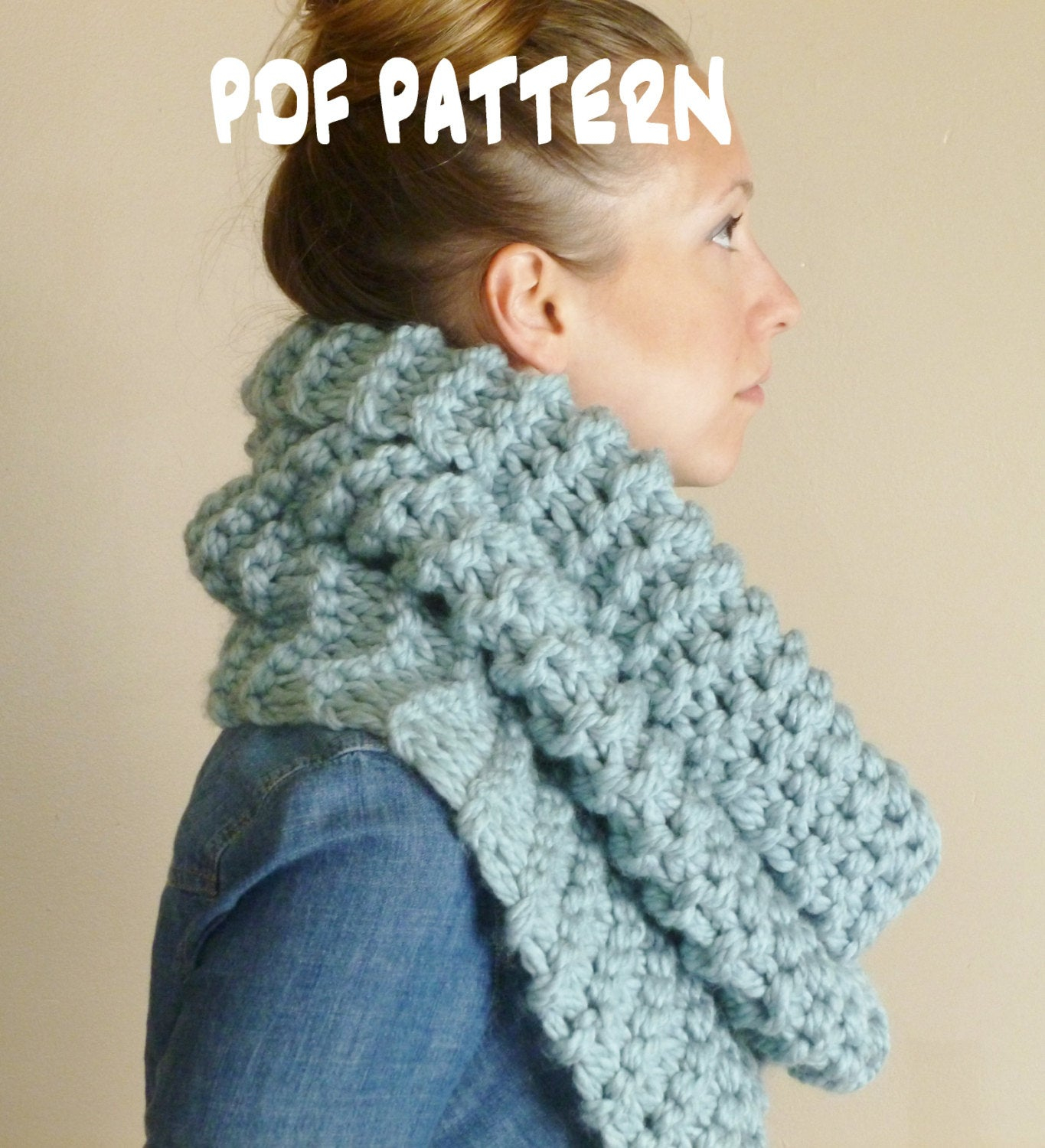 Chunky Knit Infinity Scarf Pattern Chunky Scarf Knitting Pattern The Strasburg Scarf Outlander Inspired Cowl Infinity Scarf Pattern Scarf Patterns Hooded Cowl Pattern