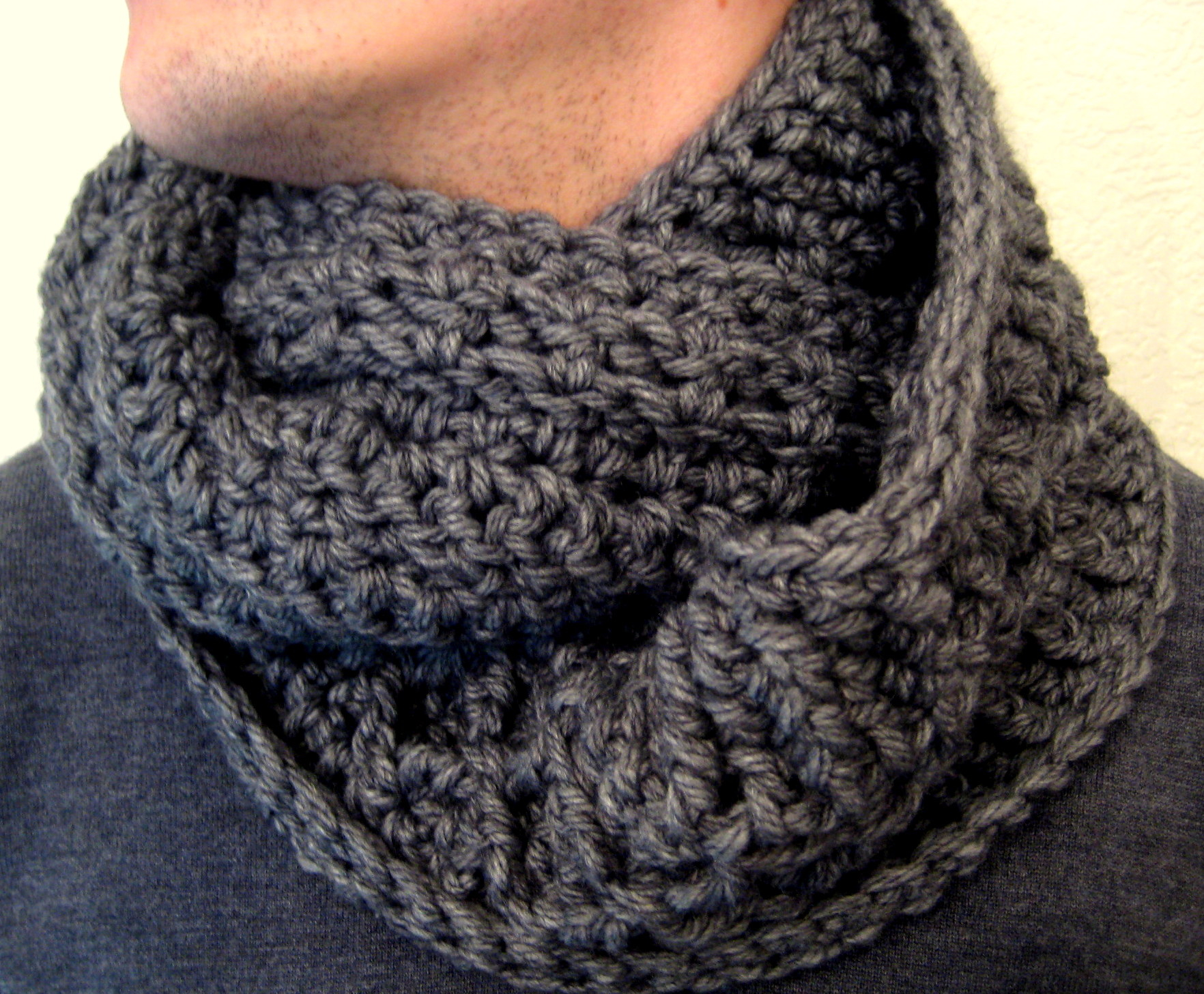 Chunky Knit Infinity Scarf Pattern Diamond Scarves Make My Day Creative