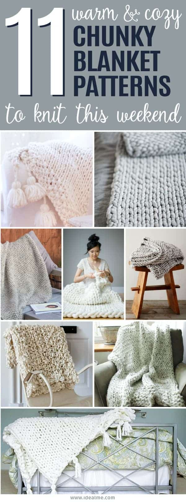 Chunky Wool Throw Knitting Pattern 11 Cozy Chunky Blankets Youll Want To Knit This Weekend Ideal Me