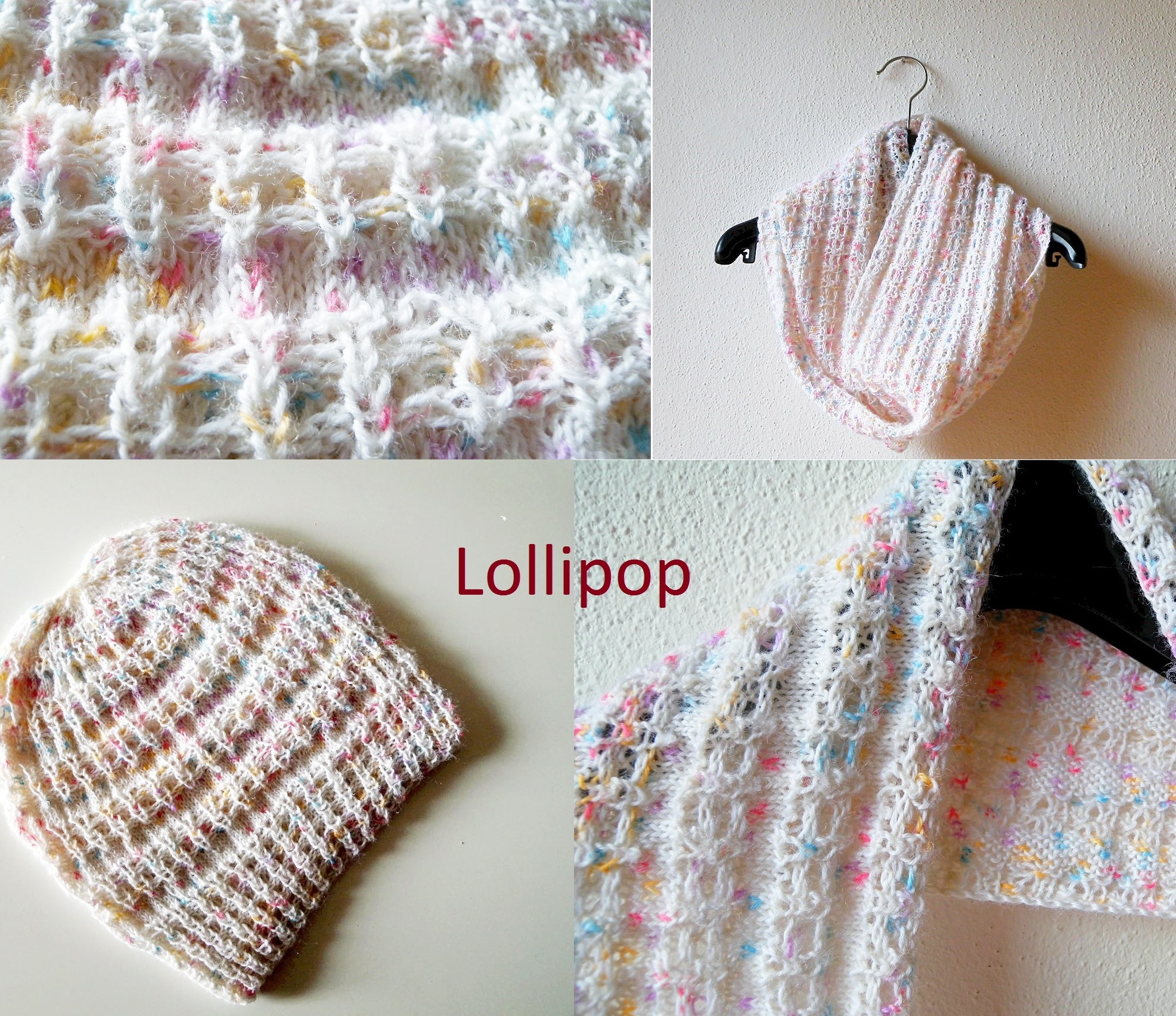 Cowl Knit Patterns Hat And Cowl Knitting Pattern Collection The Lollipop Book