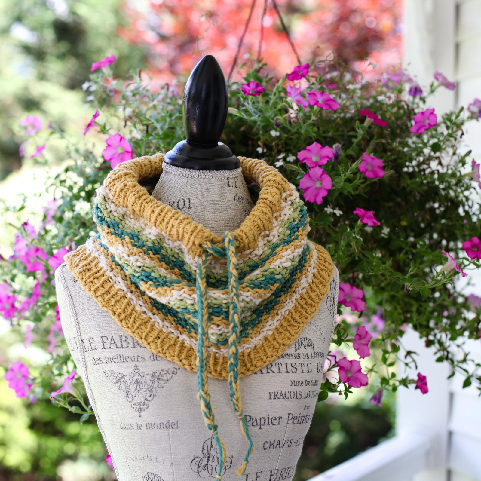 Cowl Knit Patterns Loom Knit Drawstring Cowl Pattern Cotton Neckwarmer With Easy Colorwork Wave Pattern 4 Season Loom Knitting Pattern Pdf