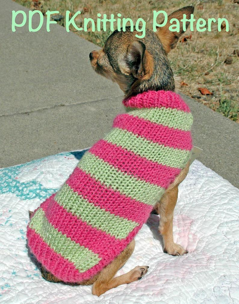 Dog Sweater Knitting Patterns Easy Cute Dog Sweater Knitting Pattern