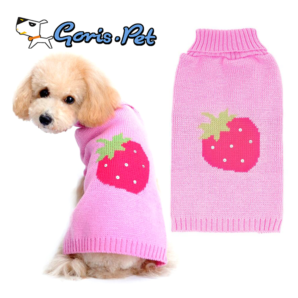 Dog Sweater Knitting Patterns Warm Cute Strawberry Xxxl Knitting Pattern Small Dog Sweater Buy Dog Sweaterdog Sweater Xxxlsmall Dog Sweater Knitting Pattern Product On