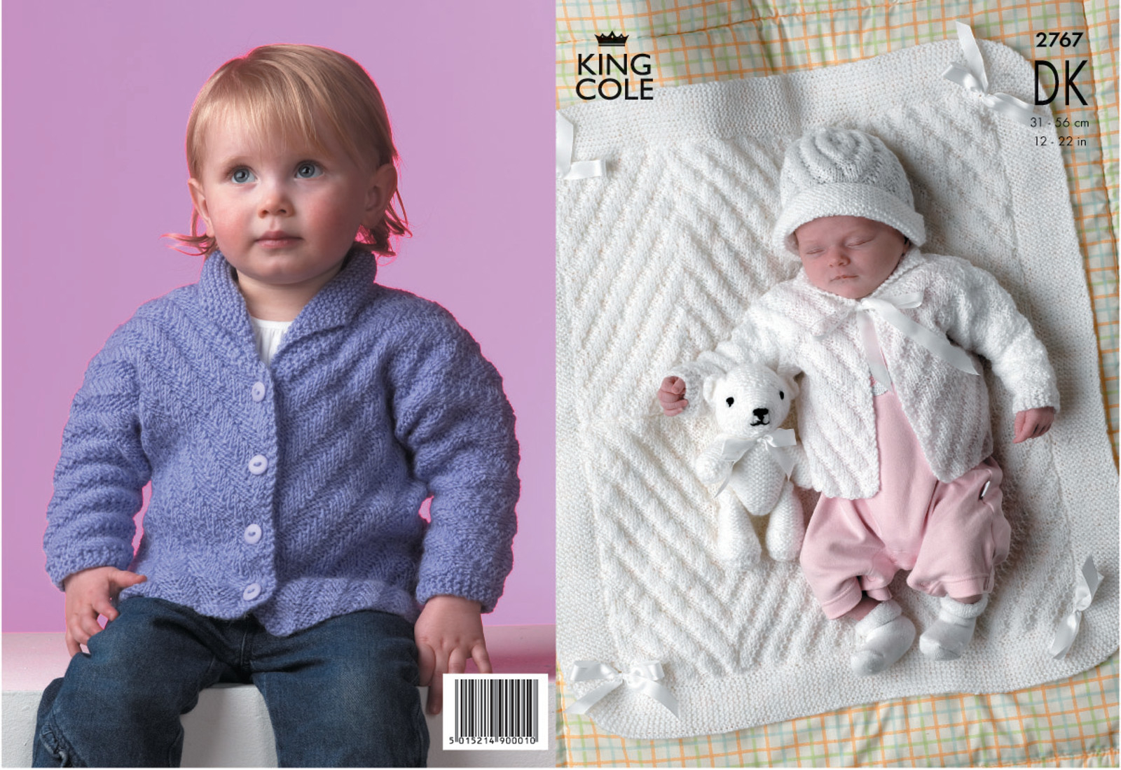 Double Knitting Baby Patterns Details About Ba Dk Double Knitting Pattern King Cole Stripe Effect Jacket Hat Blanket 2767