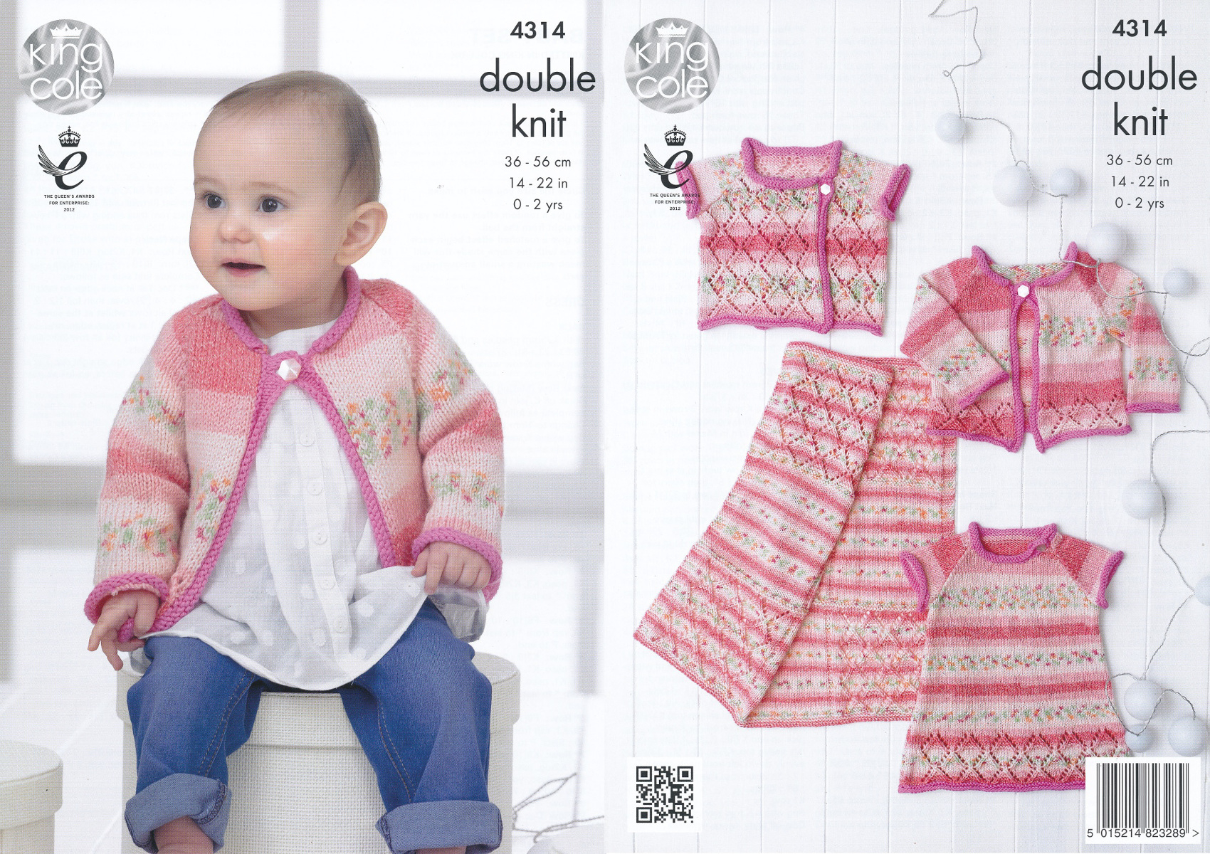 Double Knitting Baby Patterns Details About King Cole Double Knitting Pattern Ba Dress Cardigan Waistcoat Blanket Set 4314