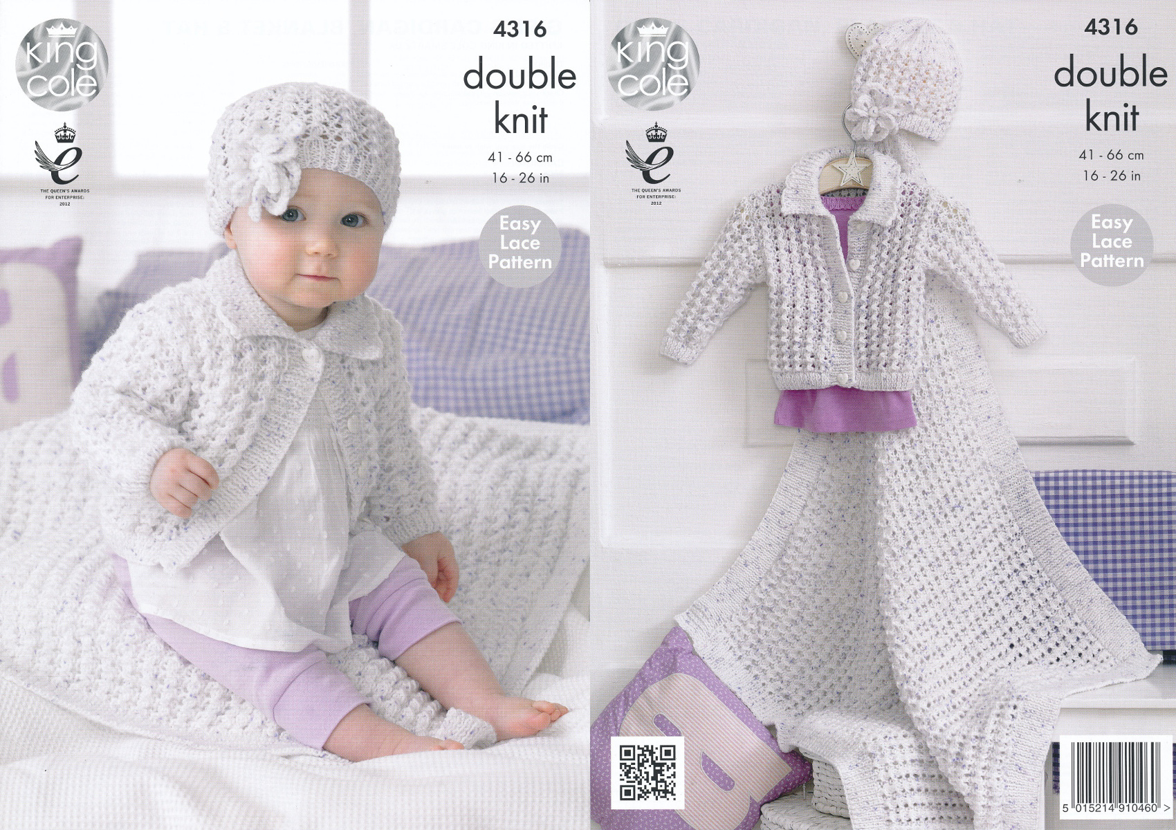 Double Knitting Baby Patterns Details About King Cole Double Knitting Pattern Ba Lace Cardigan Blanket Flower Hat Dk 4316
