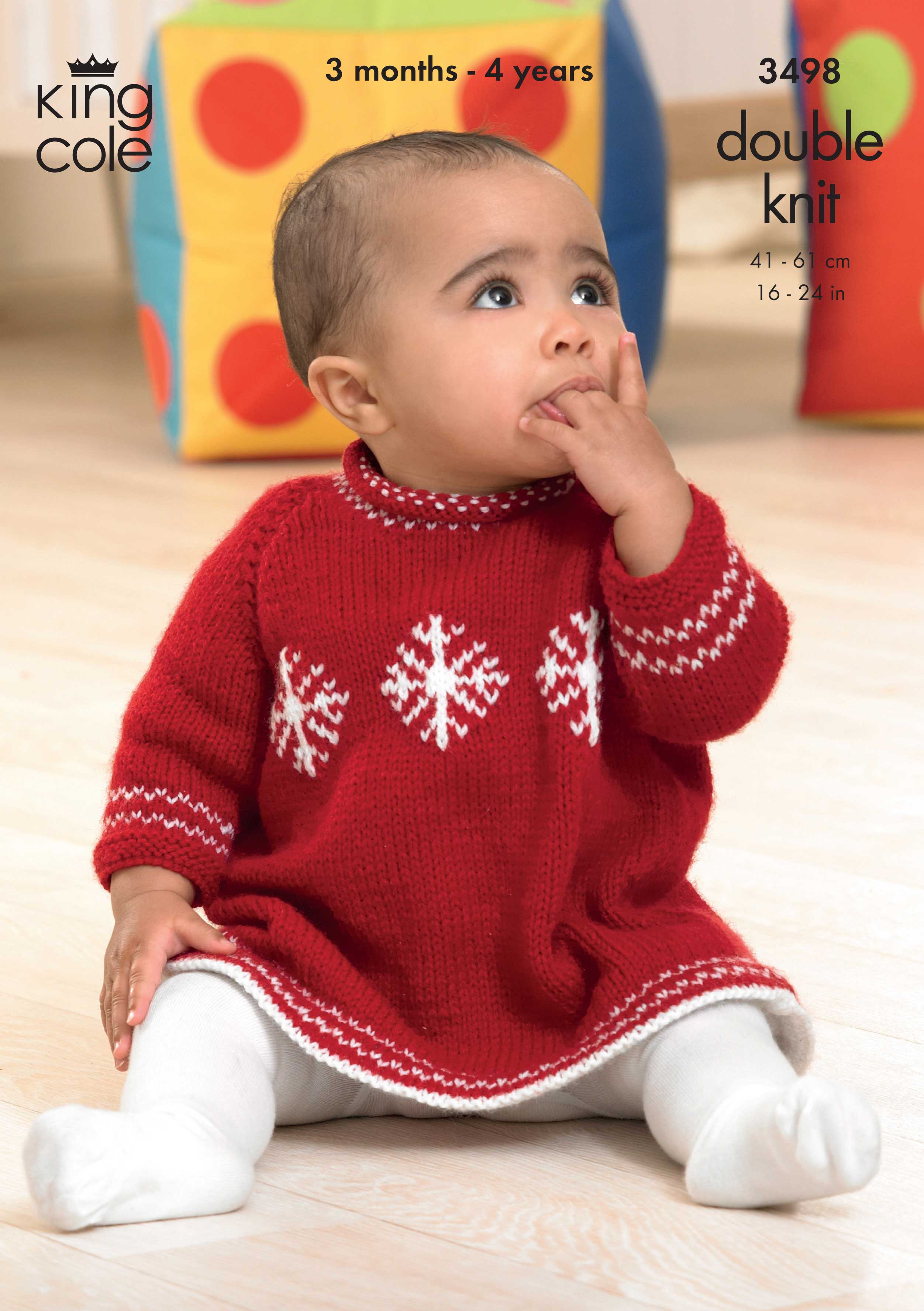 Double Knitting Baby Patterns Easy To Follow Christmas Sweater And Dress Knitted In Comfort Dk