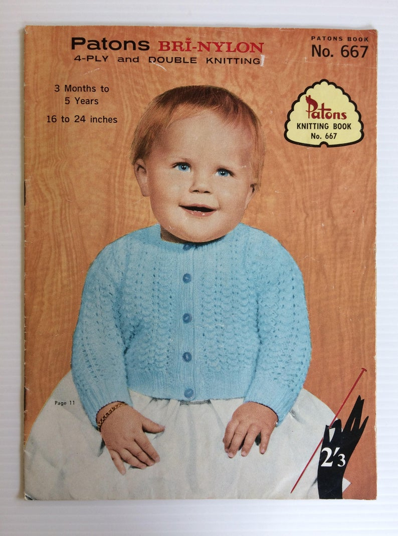 Double Knitting Baby Patterns Patons Knitting Book 653 Bri Nylon 4 Ply And Double Knitting Babies Patterns 3 Months To 5 Years
