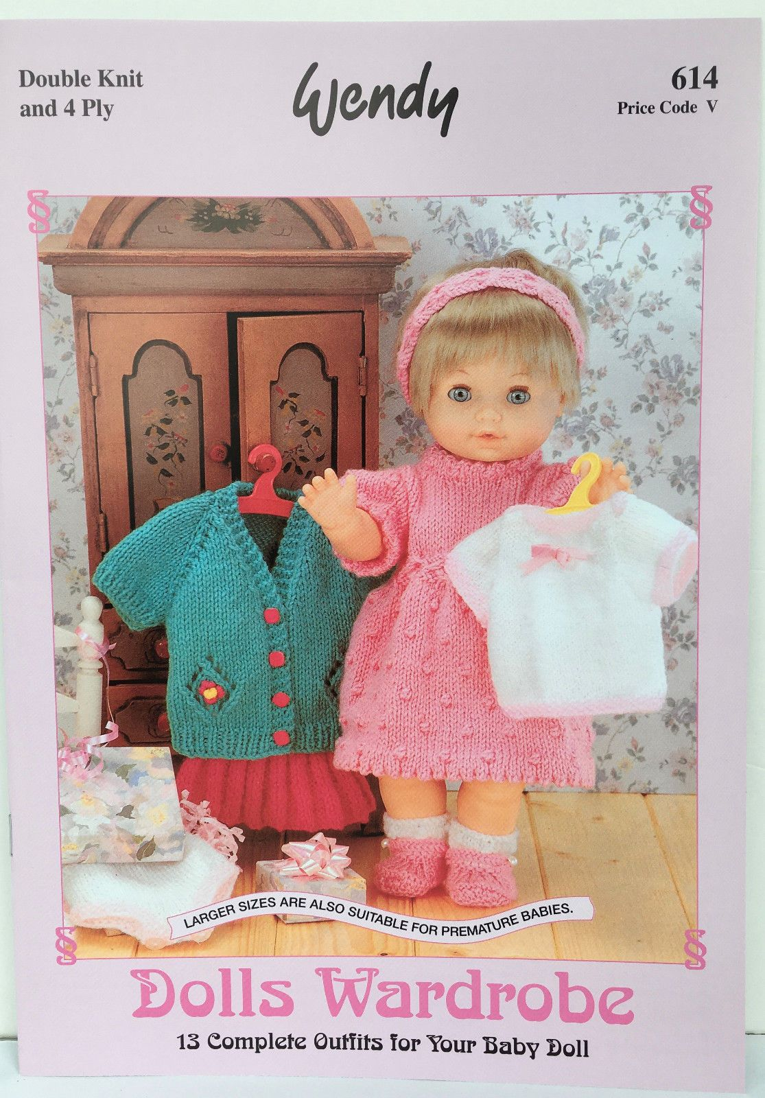 Double Knitting Baby Patterns Wendy Dolls Wardrobe Double Knit 4 Ply Knitting Pattern