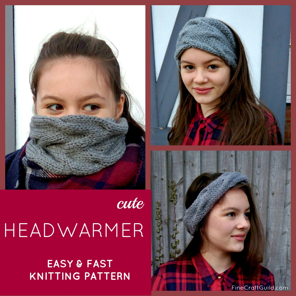 Easy Cable Knit Headband Pattern Easy Cable Head Warmer Knitting Pattern