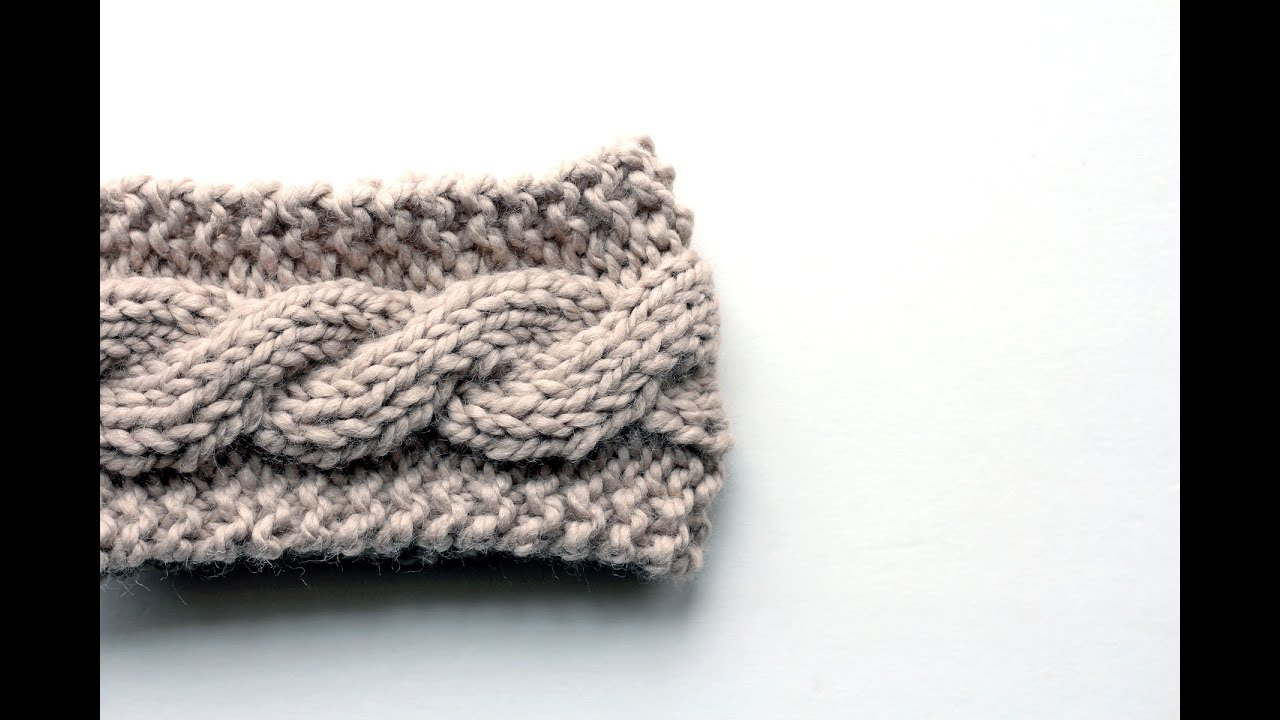 Easy Cable Knit Headband Pattern Free Friendship Cable Headband Knitting Pattern Video