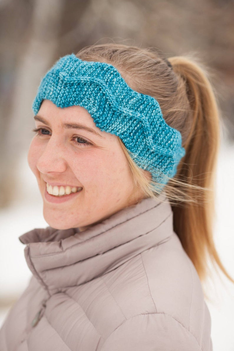 Easy Cable Knit Headband Pattern Knitted Headband Pattern Pdf Headband Knitting Pattern Easy Cable Knit Headband Pattern Cable Knit Headband Winding Trail Headband