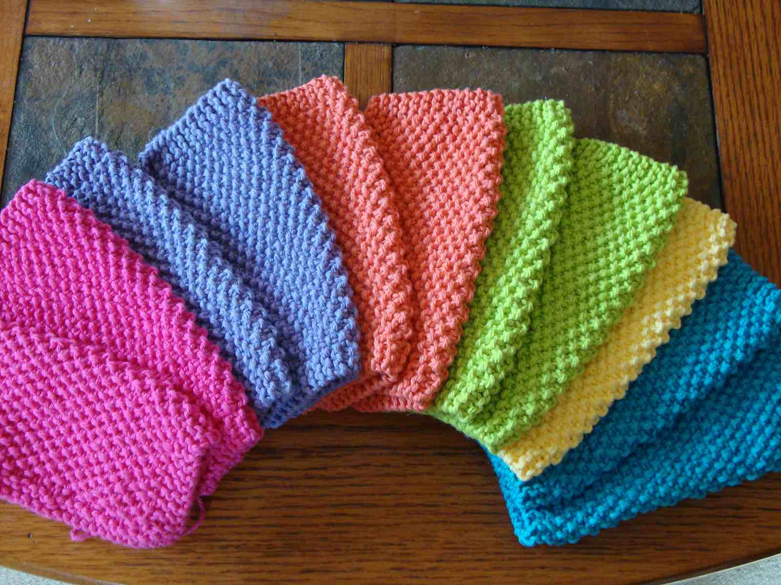 Easy Dishcloth Knit Pattern 10 Knit Dishcloth Patterns For Beginners