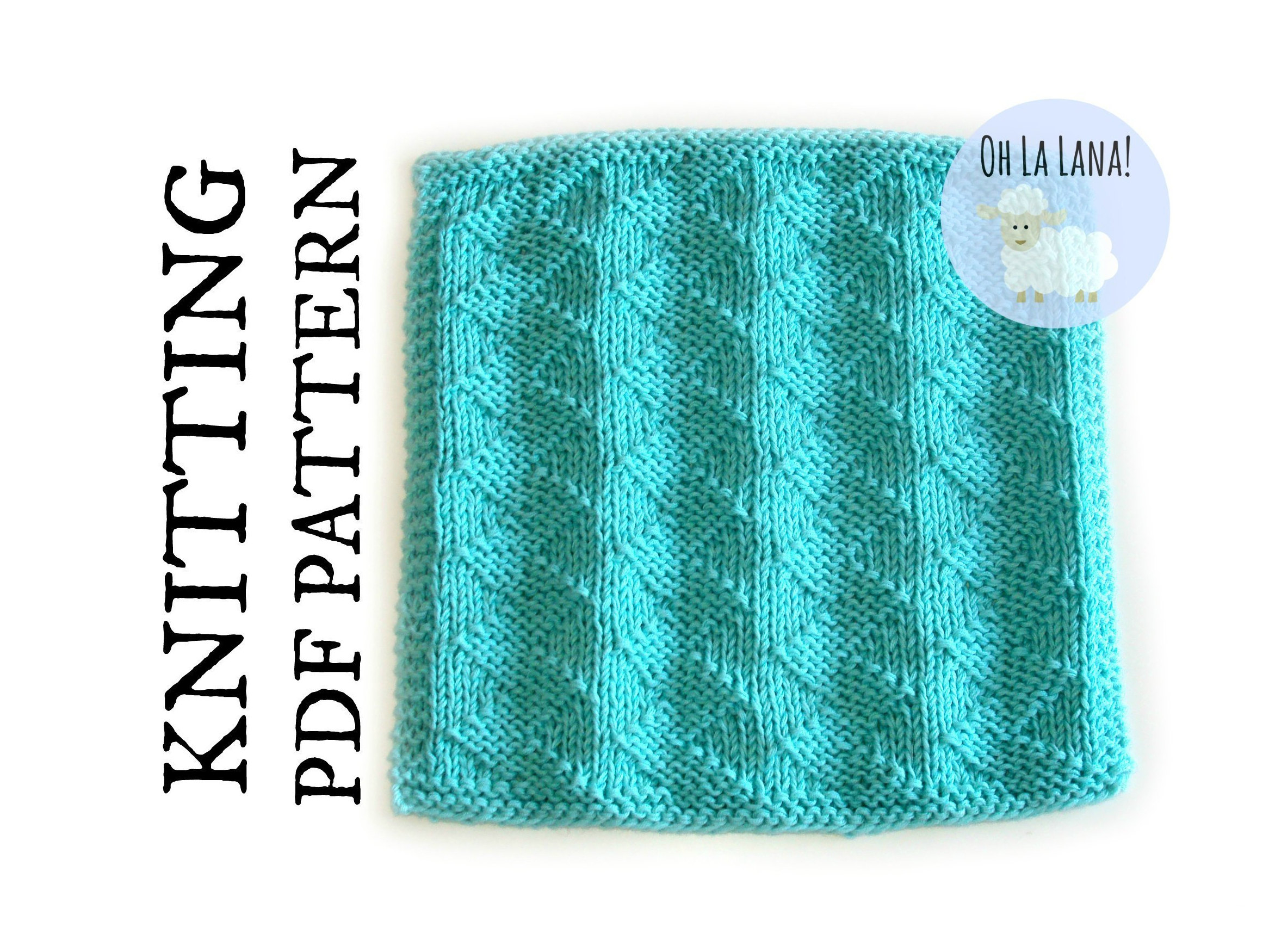 Easy Dishcloth Knit Pattern Easy Knitting Pattern Zig Zag Dishcloth Easy Washcloth Knitting Pattern Knit And Purl Beginner Knitting Pattern Instant Download