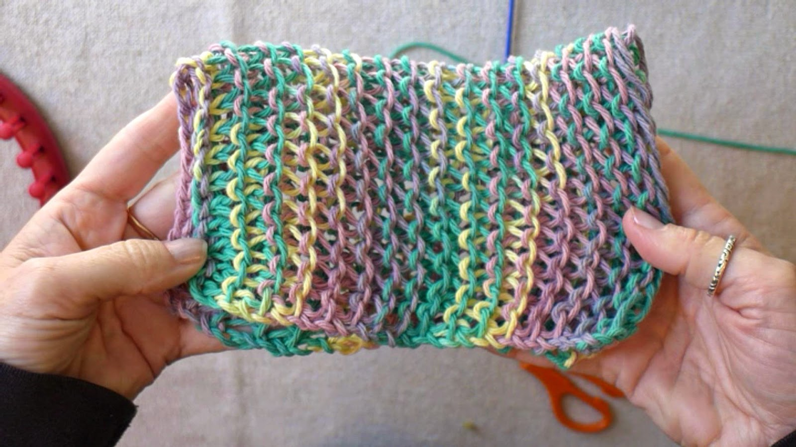 Easy Dishcloth Knit Pattern Easymeworld Learn The Basic Stitches For Loom Knitting Dish Cloths