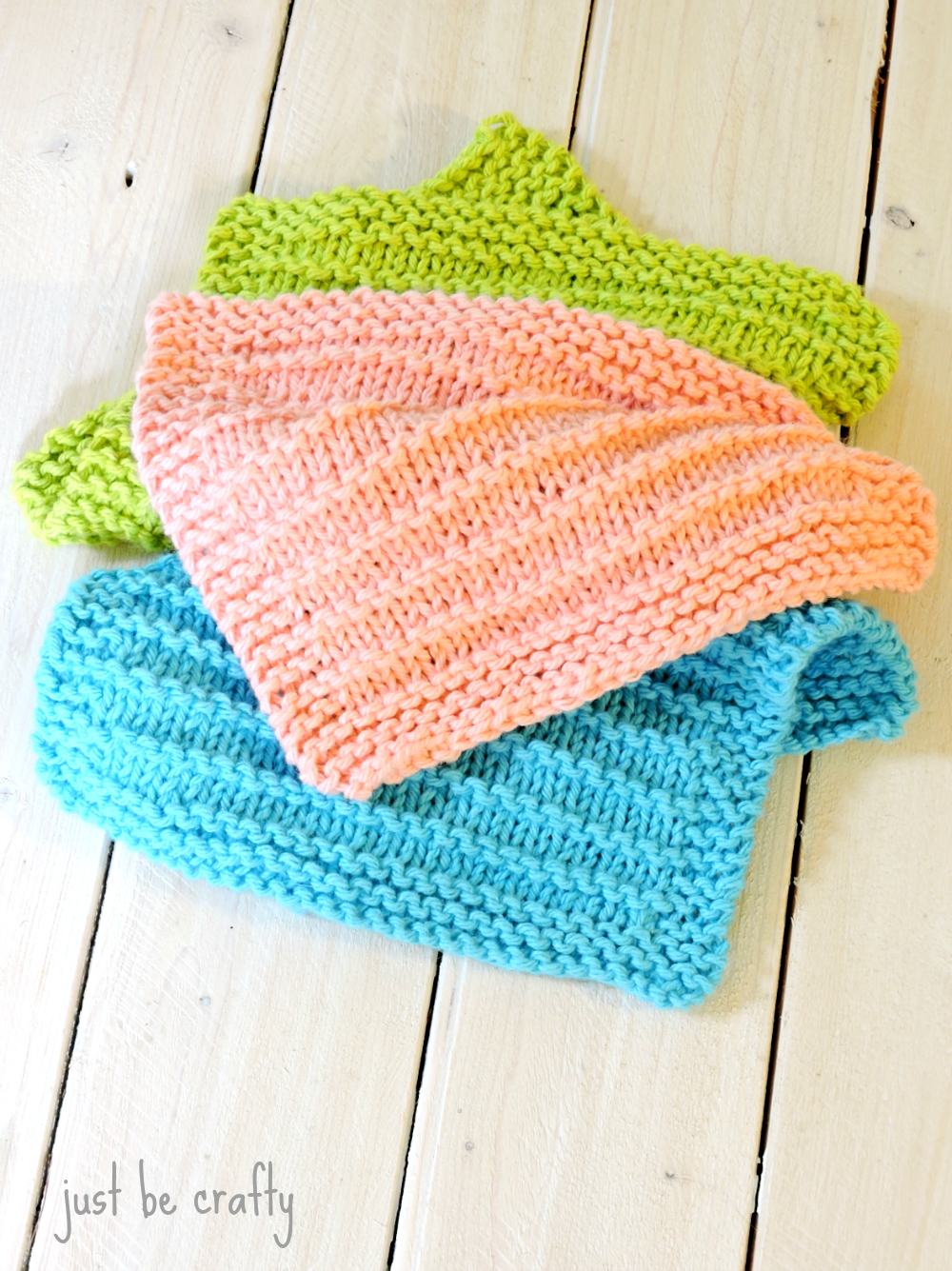 Easy Dishcloth Knit Pattern Farmhouse Kitchen Knitted Dishcloths Just Be Crafty