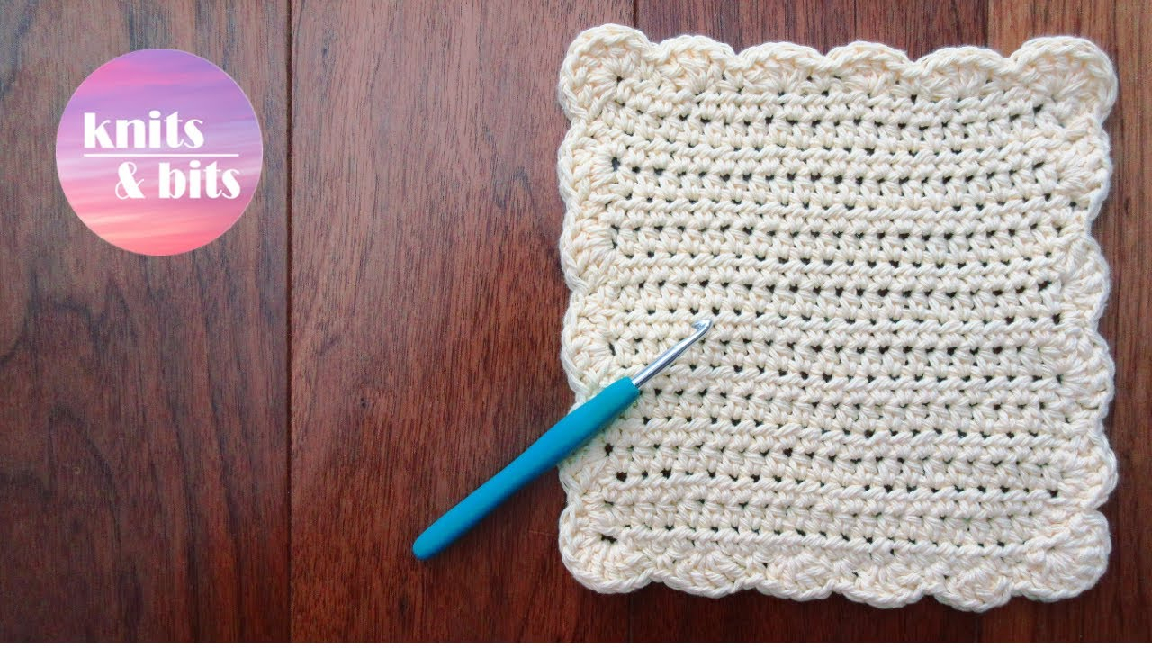 Easy Dishcloth Knit Pattern How To Crochet A Dishcloth Washcloth Easy Step Step For Beginners Sunny Waves