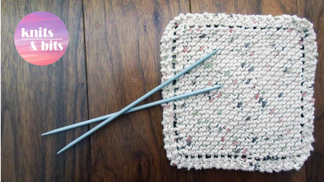 Easy Dishcloth Knit Pattern Learn To Knit Simple Dishcloth Knitting For Beginners
