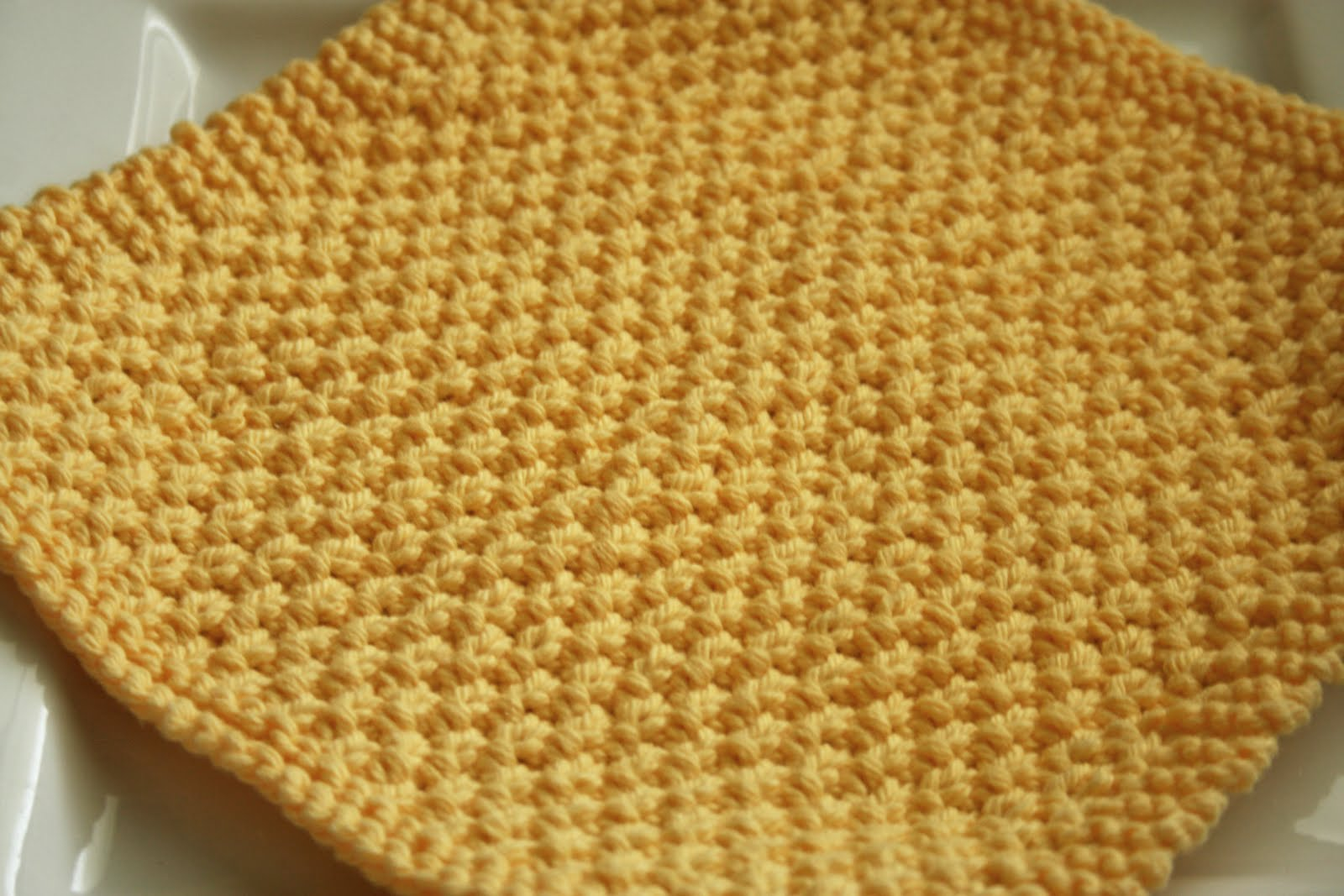 Easy Dishcloth Knit Pattern Project 10 Double Moss Kitchen Cloth The Craft Floozy