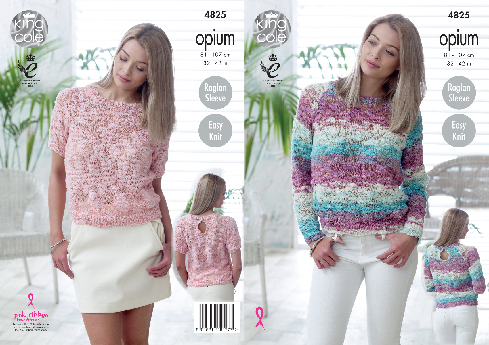 Easy Jumper Knitting Pattern Details About Easy Knit Sweater Jumper Ladies Knitting Pattern King Cole Opium Womens 4825