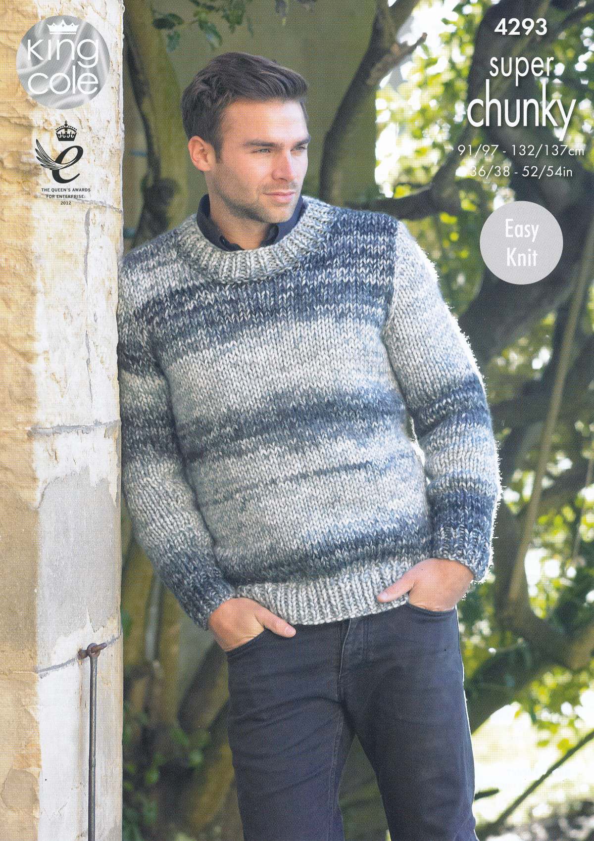 Easy Jumper Knitting Pattern Details About King Cole Mens Super Chunky Knitting Pattern Easy Knit Jumper Waistcoat 4293