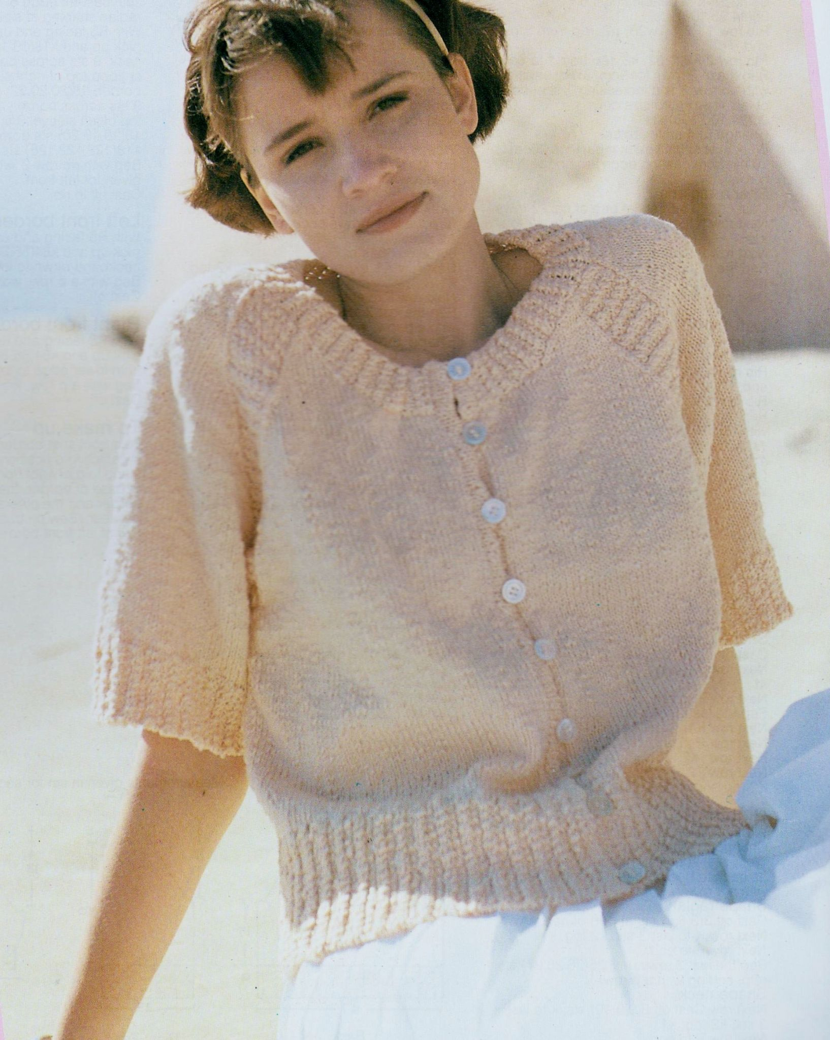 Easy Jumper Knitting Pattern Pdf Digital Download Vintage Knitting Pattern To Make A Pretty And Easy Ladies Short Sleeve Sweater Jumper Pullover In Double Knitting Bust 32 38
