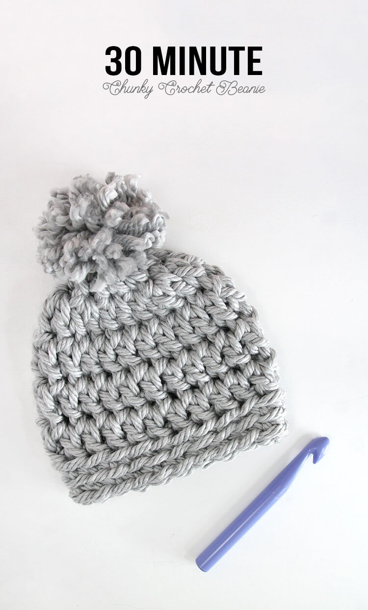 Easy Knit Hat Pattern For Beginners 30 Minute Easy Chunky Crochet Beanie Persia Lou