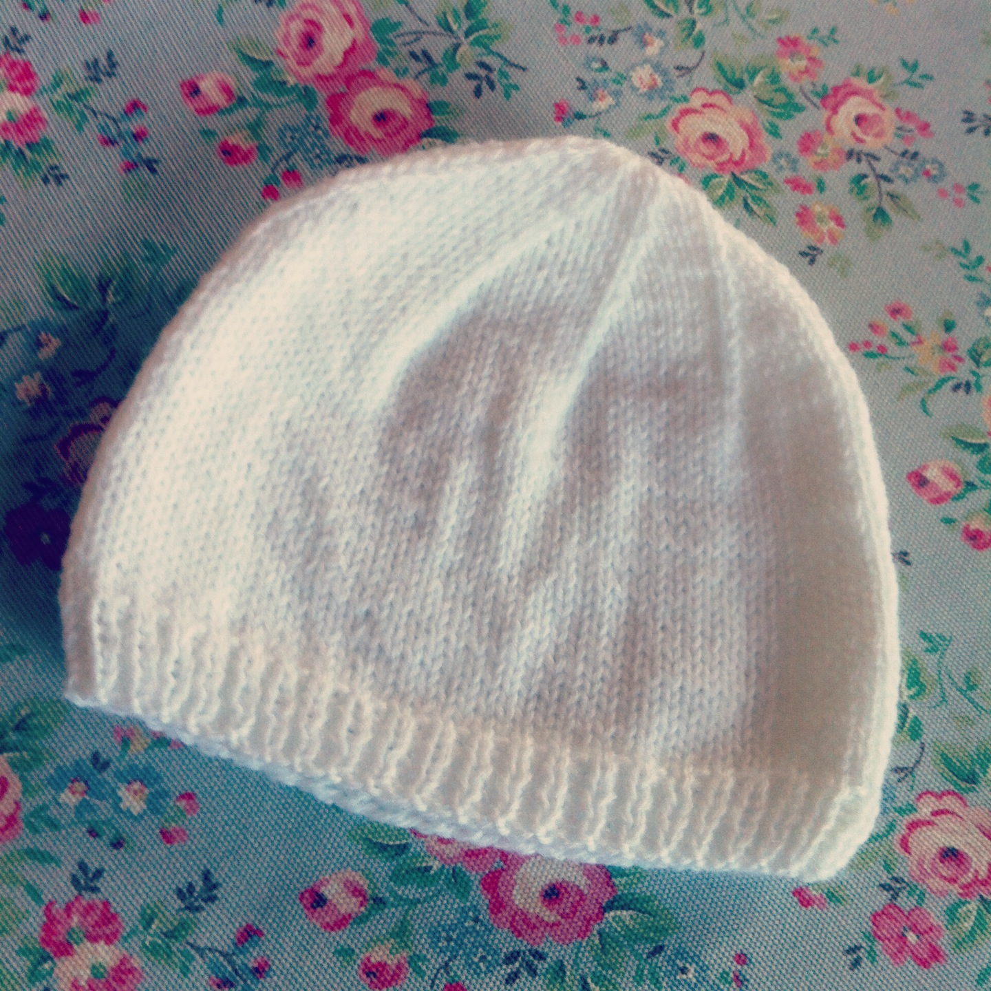 Easy Knit Hat Pattern For Beginners 4 Ply Ba Hat Dappled Things