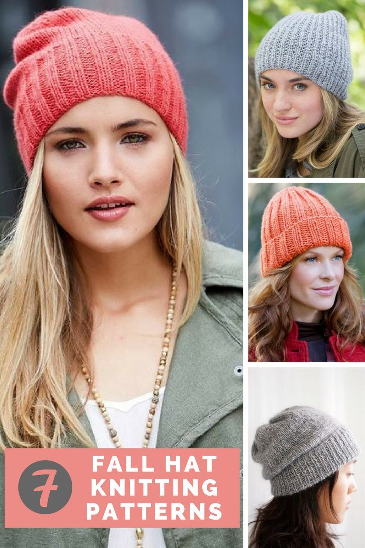 Easy Knit Hat Pattern For Beginners 7 Incredible Fall Hat Patterns Free Knitting Patterns Handy