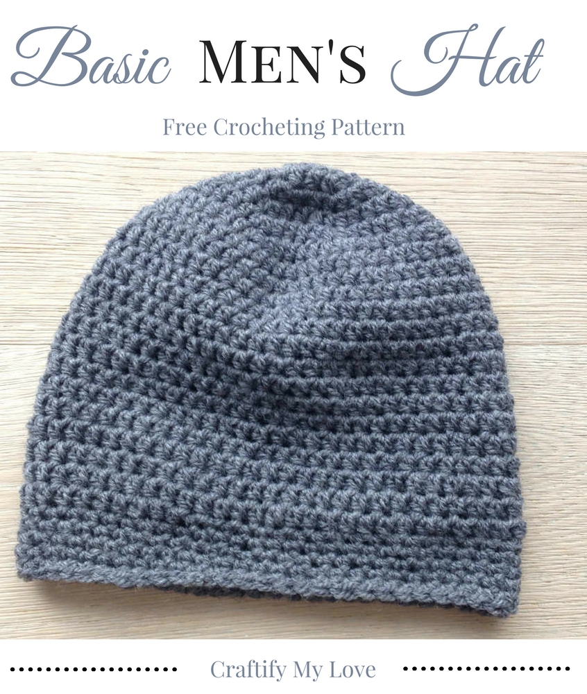 Easy Knit Hat Pattern For Beginners Basic Mens Hat Free Crocheting Pattern Craftify My Love