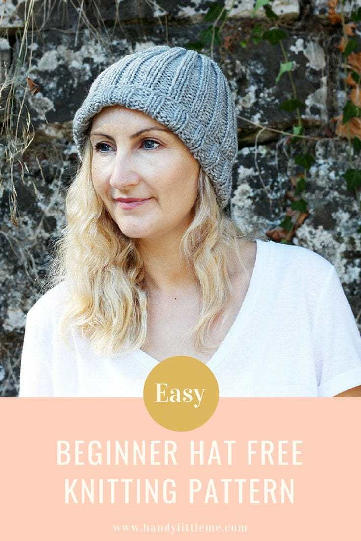 Easy Knit Hat Pattern For Beginners Easy Beginner Hat Knitting Pattern Free Knitting Patterns Handy