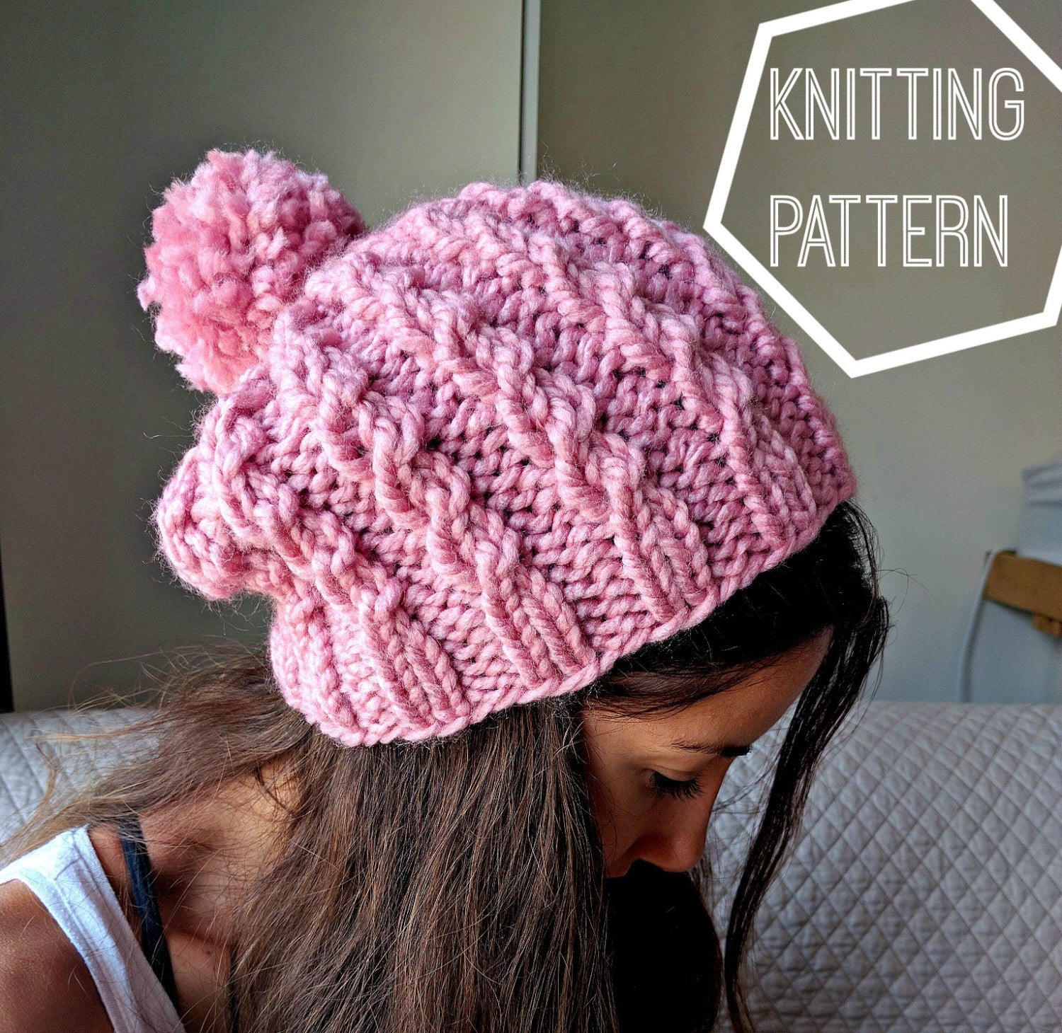 Easy Knit Hat Pattern For Beginners Easy Cable Knit Hat Pattern Cable Knit Beanie Pattern Simple Cable Knit Beanie Pattern Easy Knitting Pattern Knit Slouchy Beanie Pattern