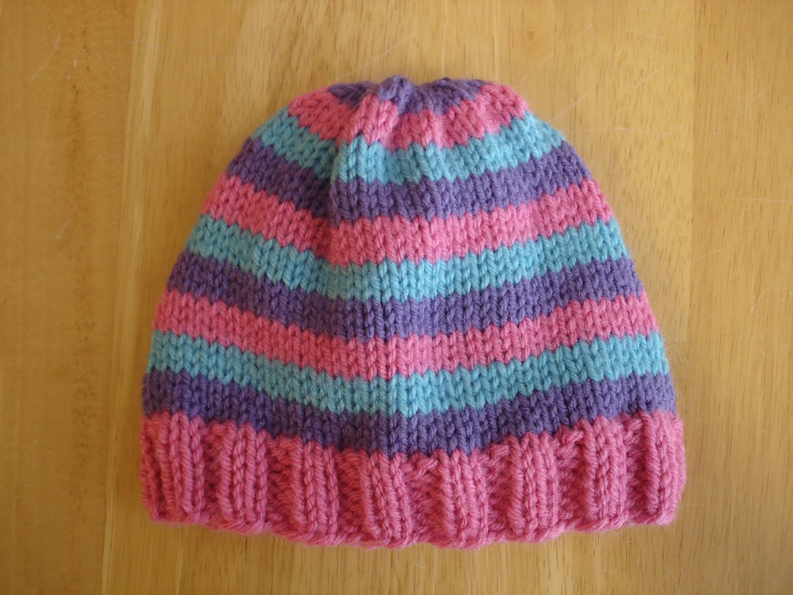 Easy Knit Hat Pattern For Beginners Free Easy Knitting Beanie Patterns