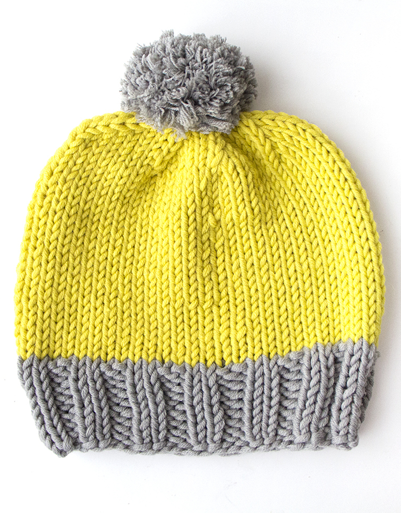 Easy Knit Hat Pattern For Beginners Knitting Pattern How To Make A Bobble Hat Mollie Makes