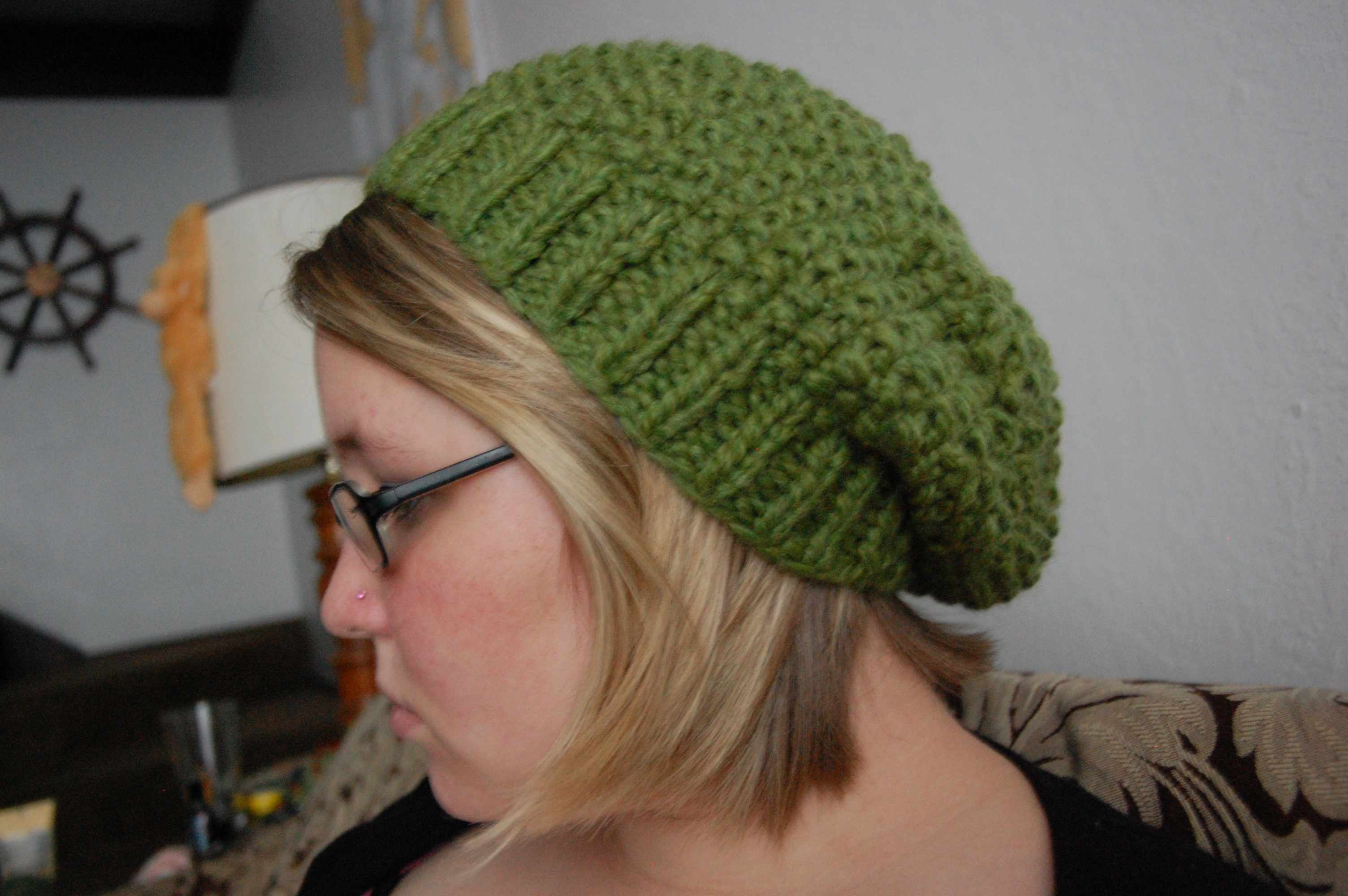 Easy Knit Hat Pattern For Beginners Lemon Grass Hat Knittybutton