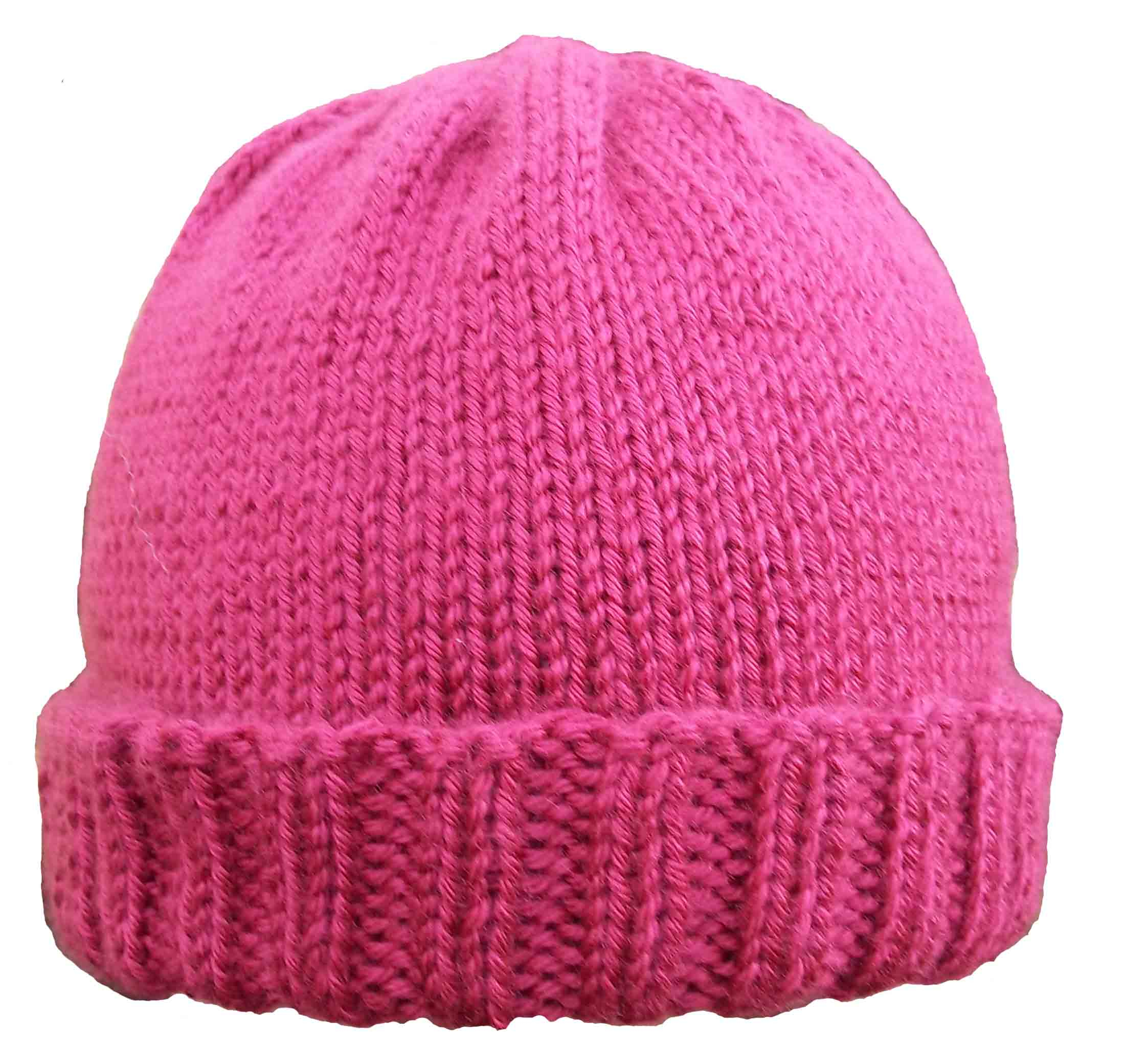 Easy Knit Hat Pattern For Beginners Ribbed Brim Hat Pattern Kniftybitss Blog