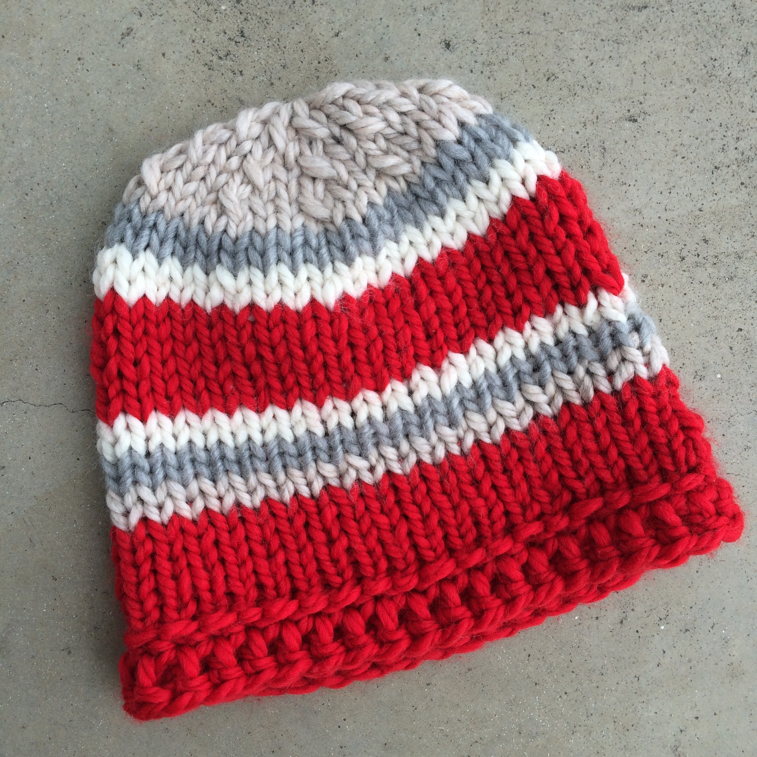 Easy Knit Hat Pattern For Beginners Simple Chunky Knit Hat Marni Made It